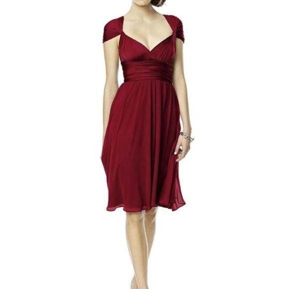 Dessy Collection Dresses & Skirts - Dessy Twist Wrap Lux Twist 1 Cocktail Length Dress